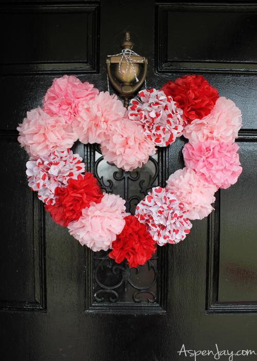 tissue-paper-heart-wreath-tutorials